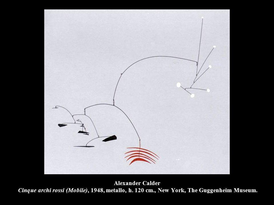 Alexander Calder Cinque archi rossi (Mobile), 1948, metallo, h. 120 cm