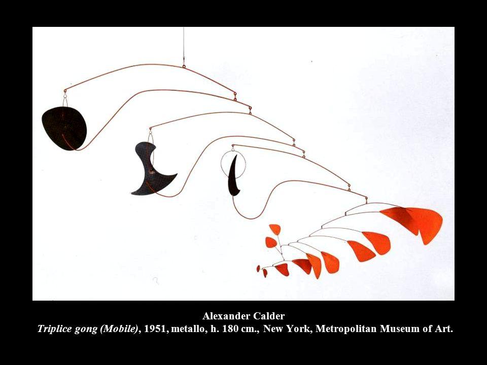 Alexander Calder Triplice gong (Mobile), 1951, metallo, h. 180 cm