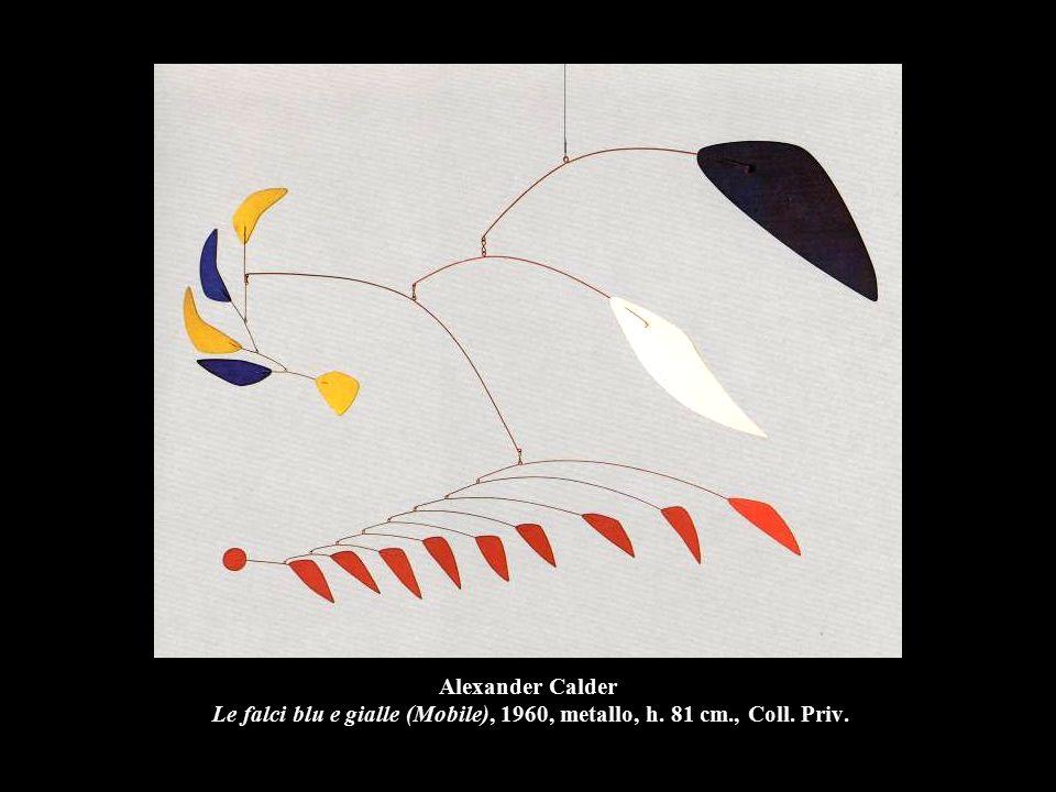 Alexander Calder Le falci blu e gialle (Mobile), 1960, metallo, h
