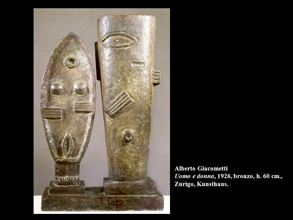 Alberto Giacometti Uomo e donna, 1926, bronzo, h. 60 cm