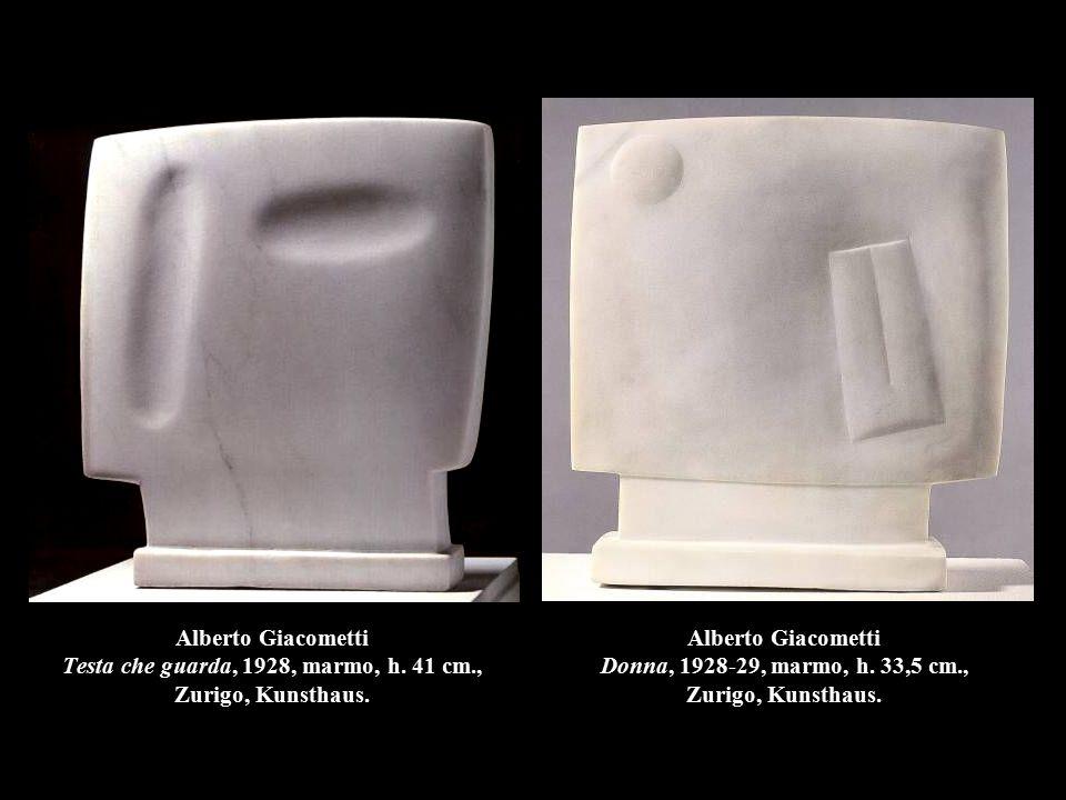Alberto Giacometti Testa che guarda, 1928, marmo, h. 41 cm