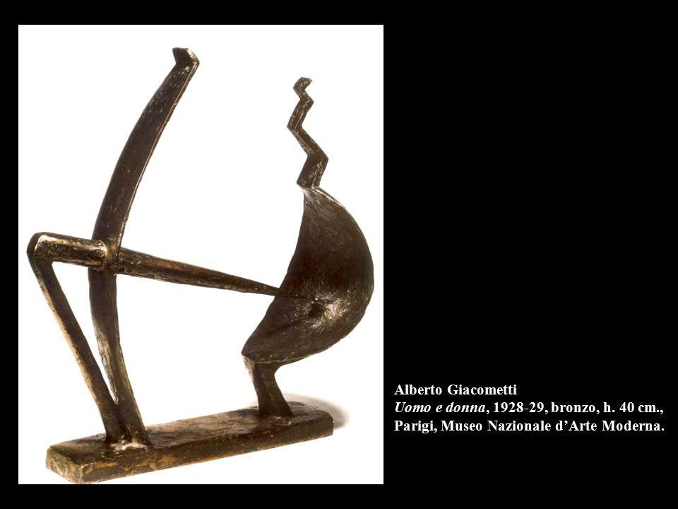 Alberto Giacometti Uomo e donna, 1928-29, bronzo, h. 40 cm