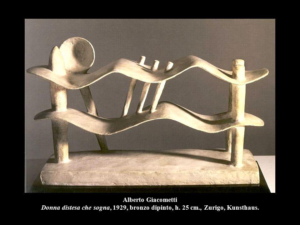 Alberto Giacometti Donna distesa che sogna, 1929, bronzo dipinto, h