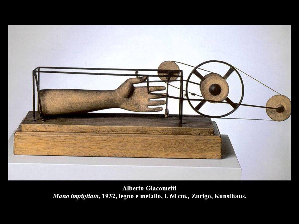 Alberto Giacometti Mano impigliata, 1932, legno e metallo, l. 60 cm