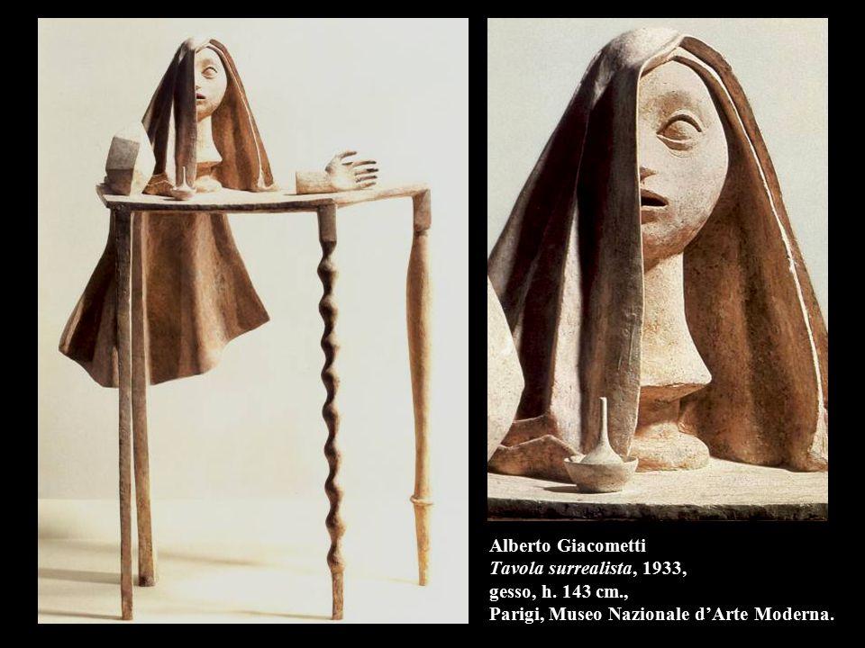 Alberto Giacometti Tavola surrealista, 1933, gesso, h. 143 cm