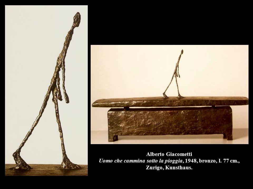 Alberto Giacometti Uomo che cammina sotto la pioggia, 1948, bronzo, l