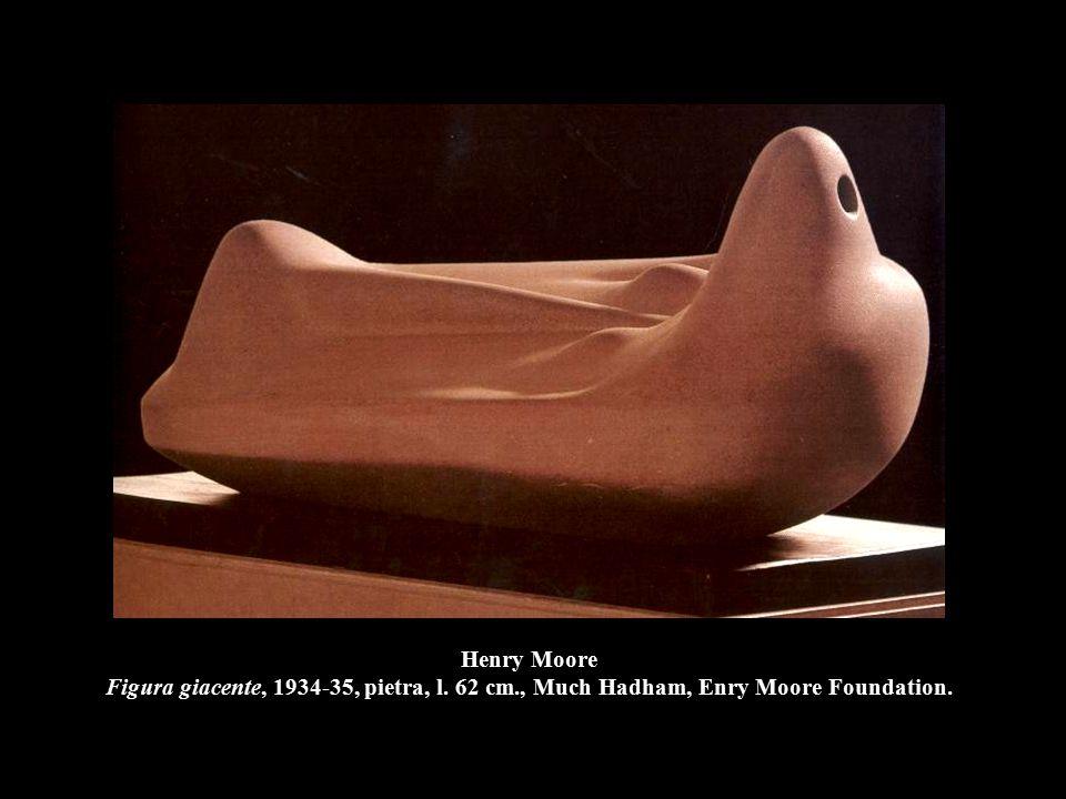 Henry Moore Figura giacente, 1934-35, pietra, l. 62 cm