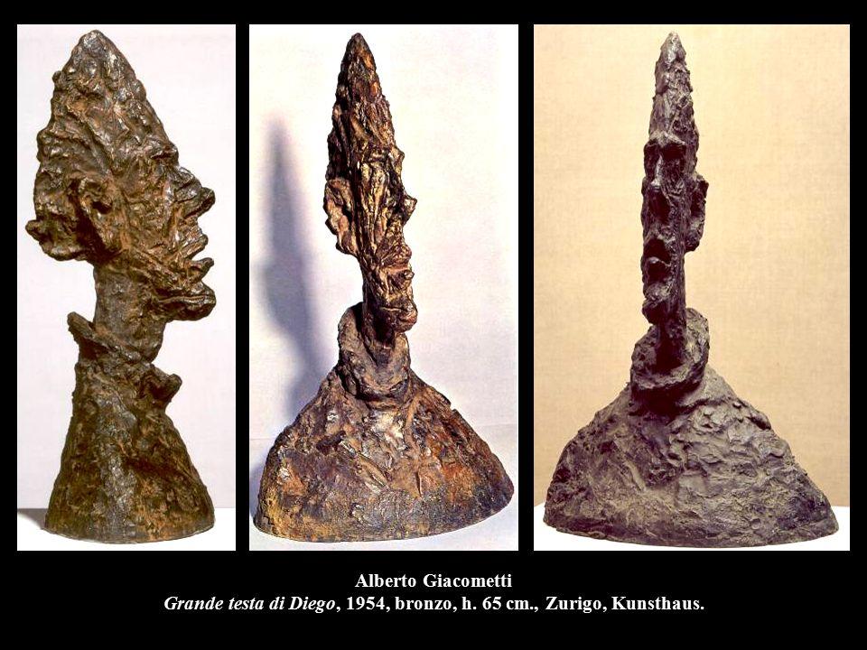 Alberto Giacometti Grande testa di Diego, 1954, bronzo, h. 65 cm