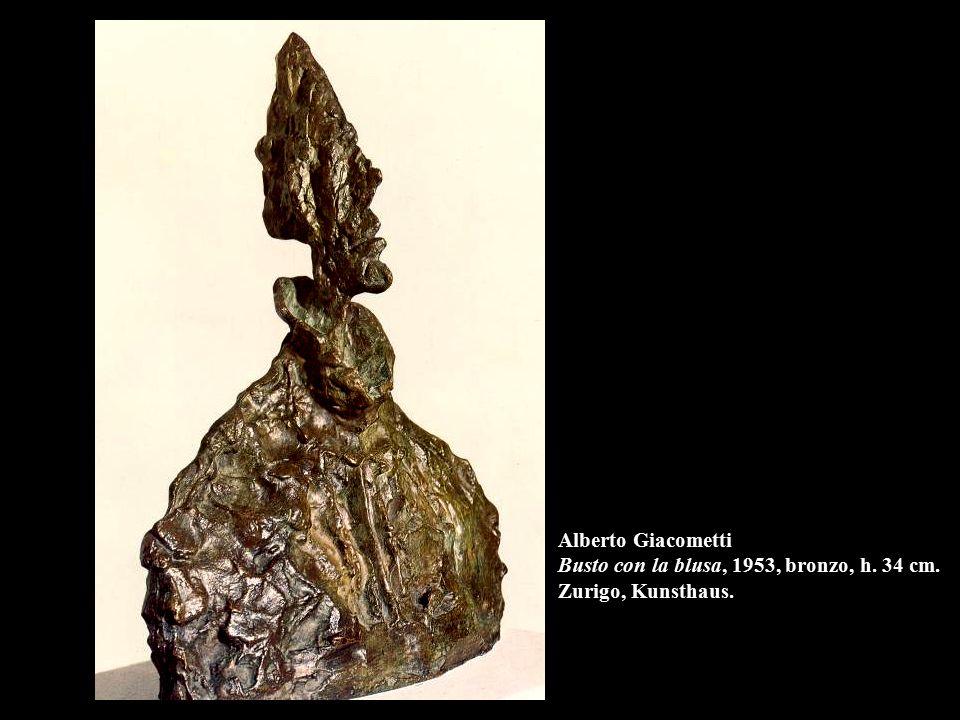 Alberto Giacometti Busto con la blusa, 1953, bronzo, h. 34 cm