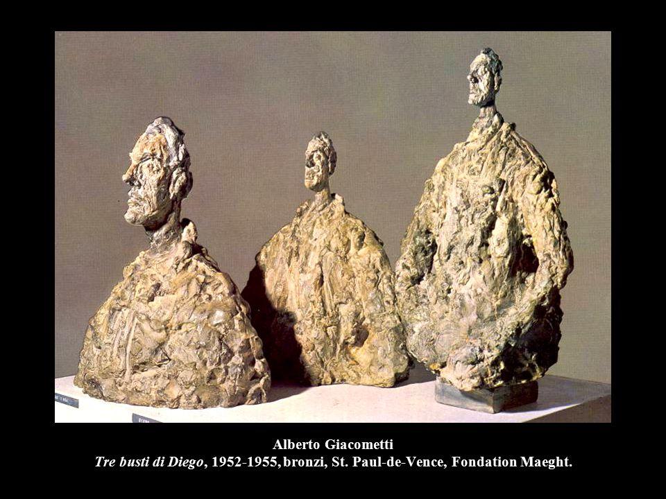 Alberto Giacometti Tre busti di Diego, 1952-1955, bronzi, St