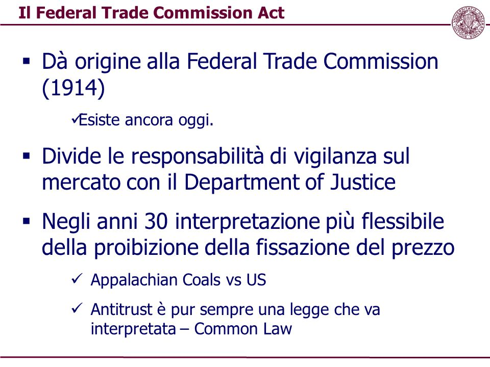 Il Federal Trade Commission Act