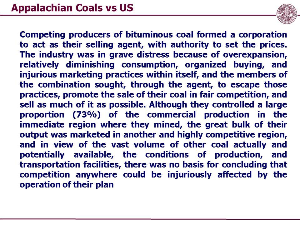 Appalachian Coals vs US
