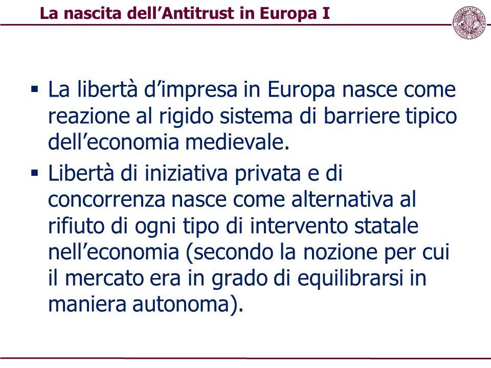 La nascita dell'Antitrust in Europa I