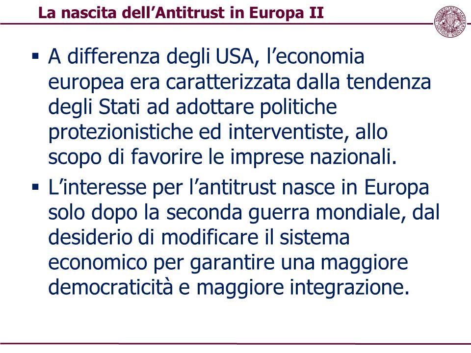 La nascita dell'Antitrust in Europa II