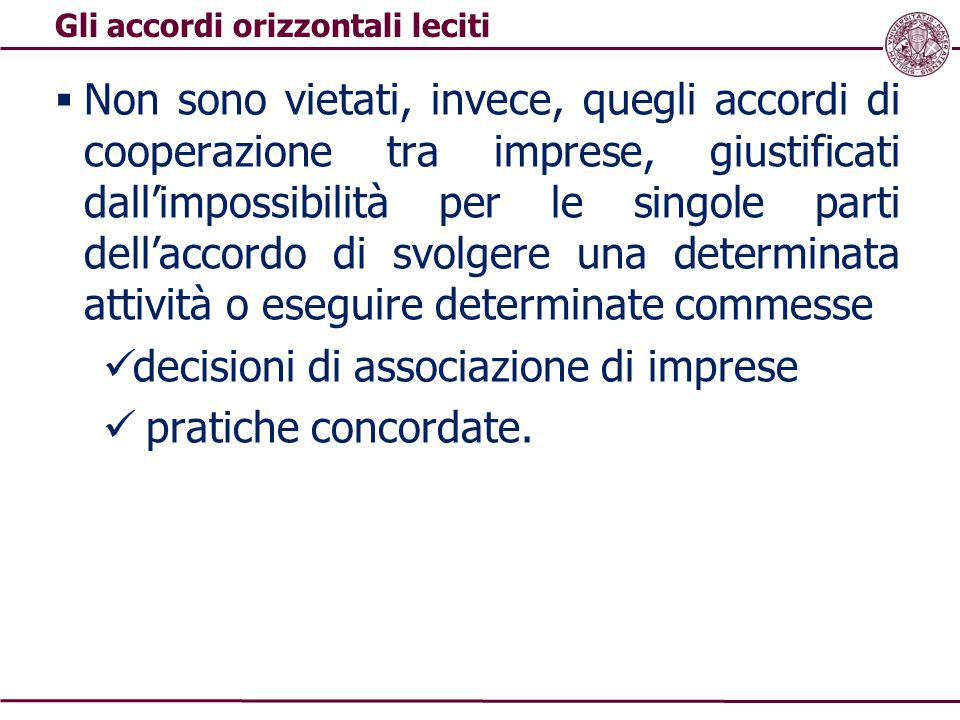 decisioni di associazione di imprese pratiche concordate.