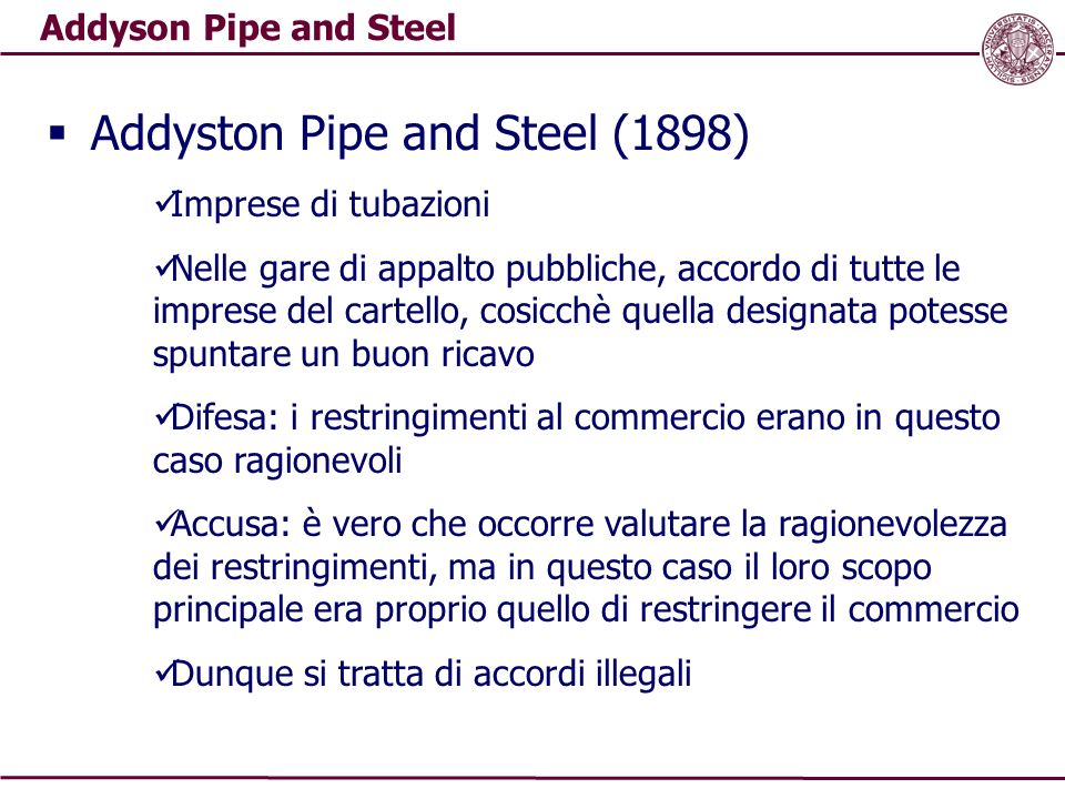 Addyston Pipe and Steel (1898)