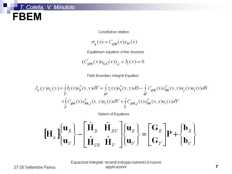 Equazioni Integrali: recenti sviluppi numerici e nuove applicazioni