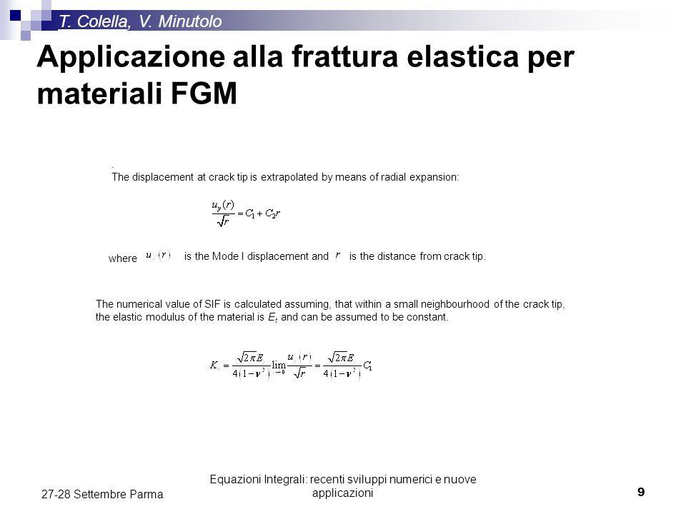 Applicazione alla frattura elastica per materiali FGM