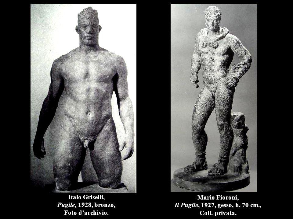 Italo Griselli, Pugile, 1928, bronzo, Foto d'archivio.