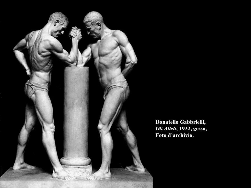 Donatello Gabbrielli, Gli Atleti, 1932, gesso, Foto d'archivio.