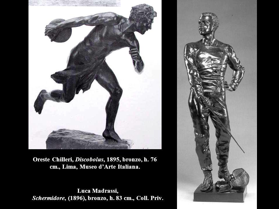 Luca Madrassi, Schermidore, (1896), bronzo, h. 83 cm., Coll. Priv.