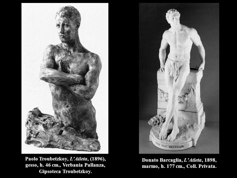 Donato Barcaglia, L'Atleta, 1898, marmo, h. 177 cm., Coll. Privata.