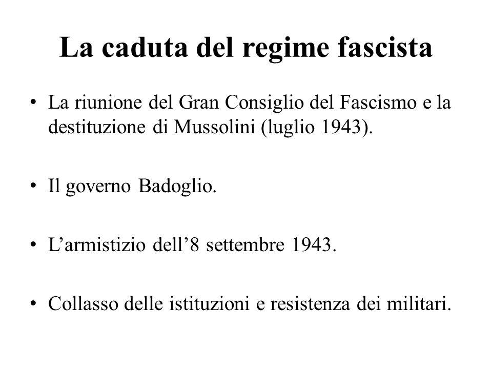La caduta del regime fascista