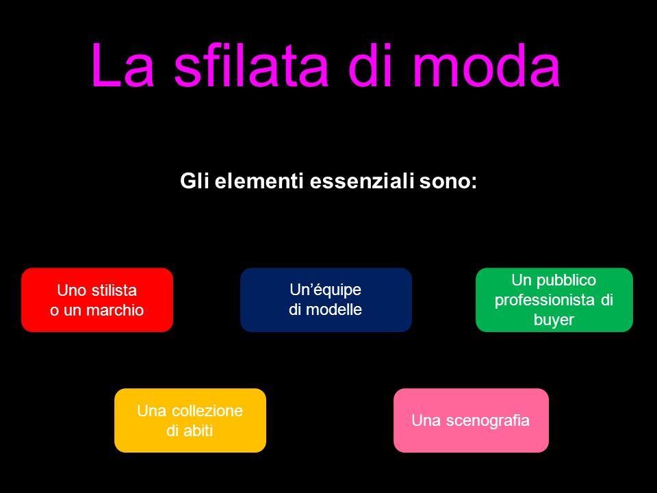 Gli elementi essenziali sono:
