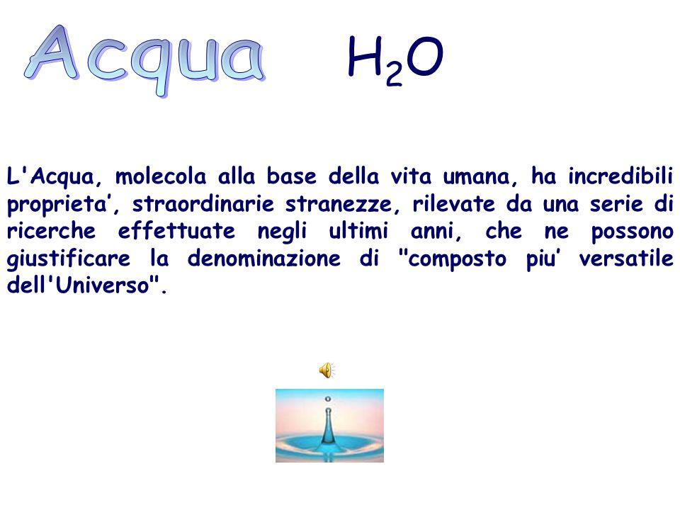 Acqua H2O.