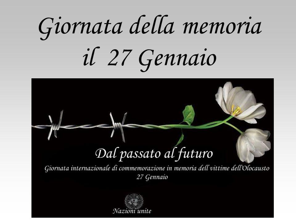 Giornata della memoria il 27 Gennaio