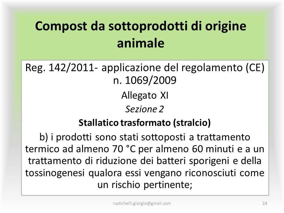 Compost da sottoprodotti di origine animale