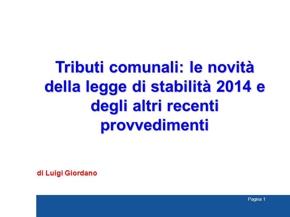 Tributi comunali: le novità della legge di stabilità 2014 e degli altri recenti provvedimenti