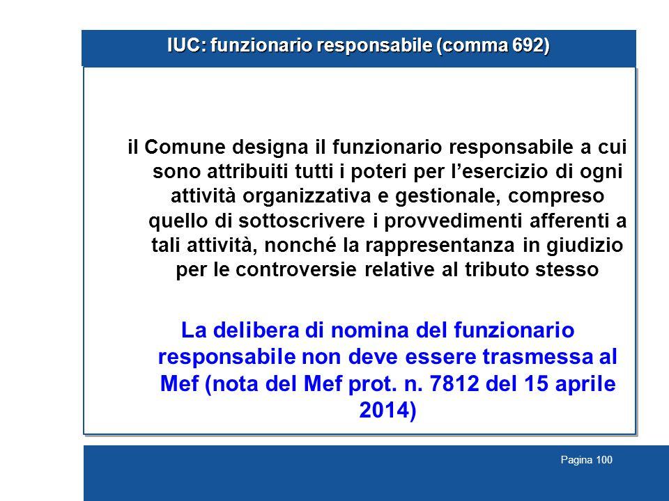 IUC: funzionario responsabile (comma 692)
