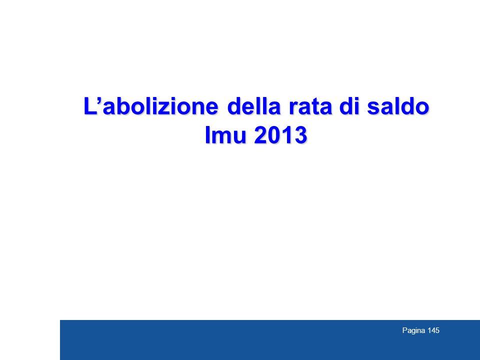 L'abolizione della rata di saldo Imu 2013