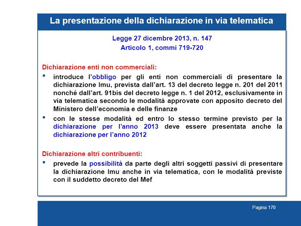 La presentazione della dichiarazione in via telematica