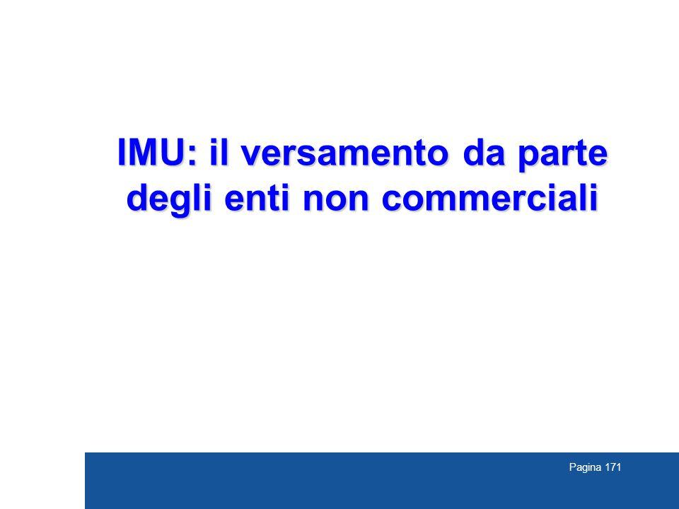 IMU: il versamento da parte degli enti non commerciali