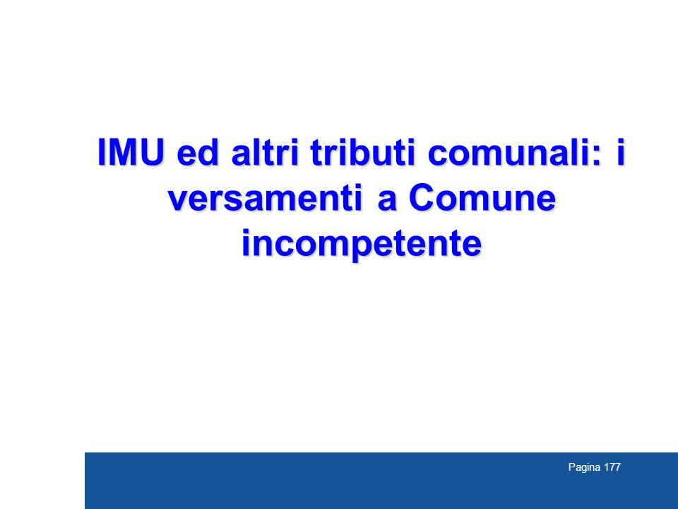 IMU ed altri tributi comunali: i versamenti a Comune incompetente
