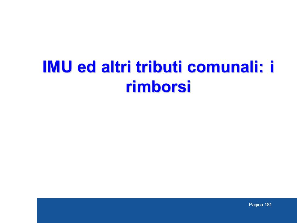 IMU ed altri tributi comunali: i rimborsi