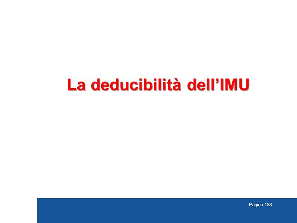 La deducibilità dell'IMU
