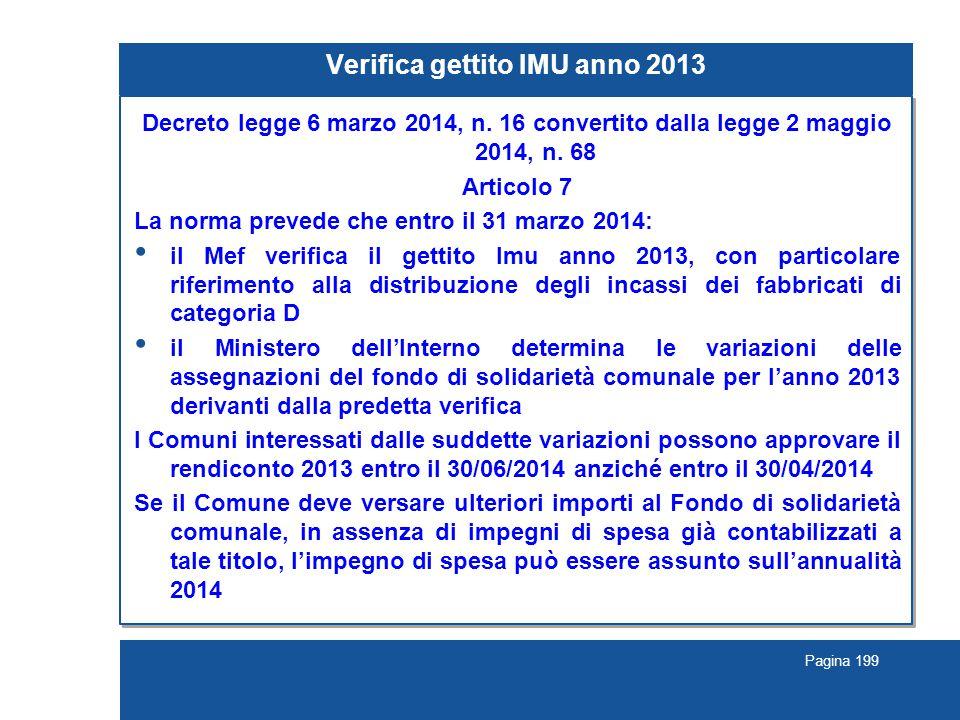 Verifica gettito IMU anno 2013