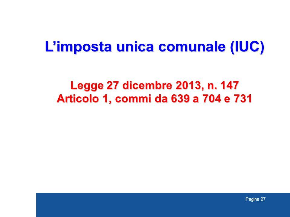 L'imposta unica comunale (IUC)