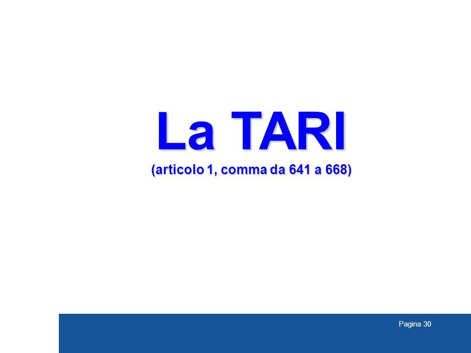 La TARI (articolo 1, comma da 641 a 668) TREVISO 30
