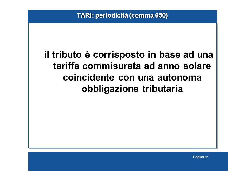 TARI: periodicità (comma 650)