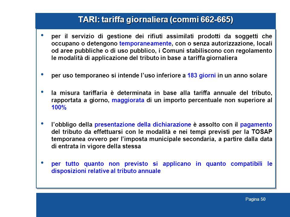 TARI: tariffa giornaliera (commi 662-665)