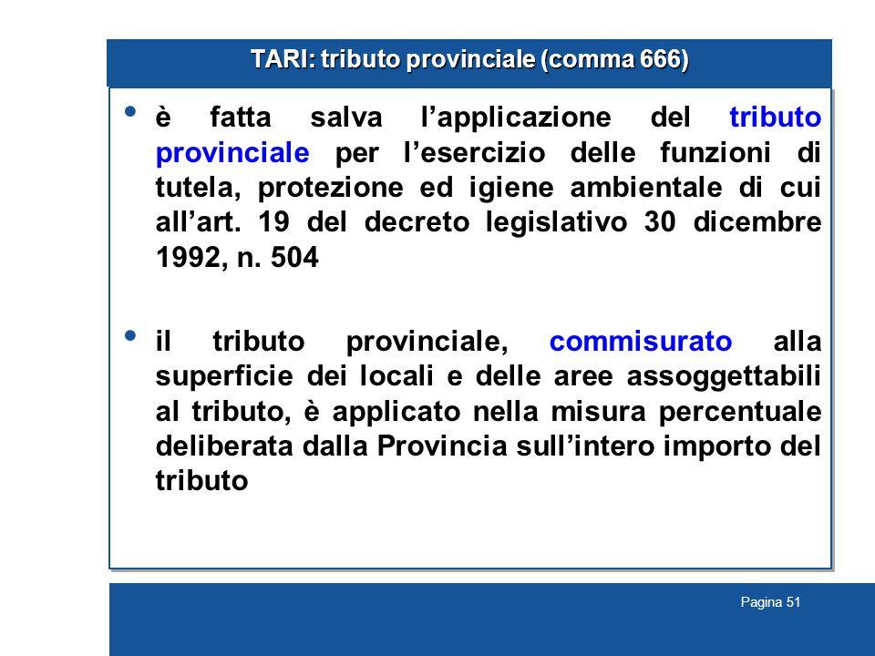 TARI: tributo provinciale (comma 666)