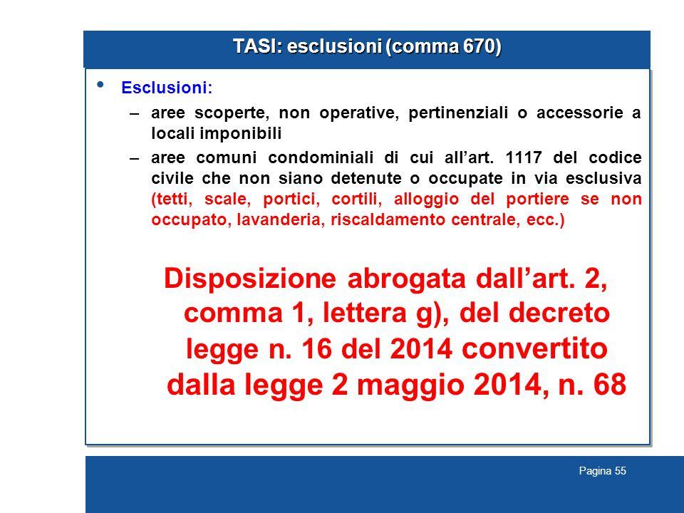 TASI: esclusioni (comma 670)