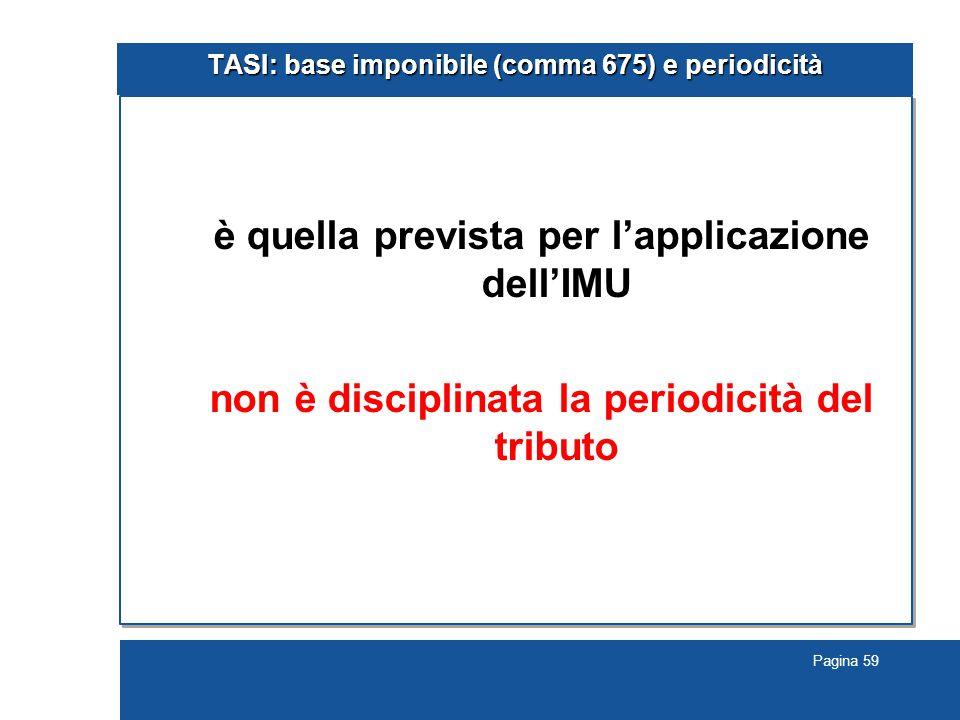 TASI: base imponibile (comma 675) e periodicità