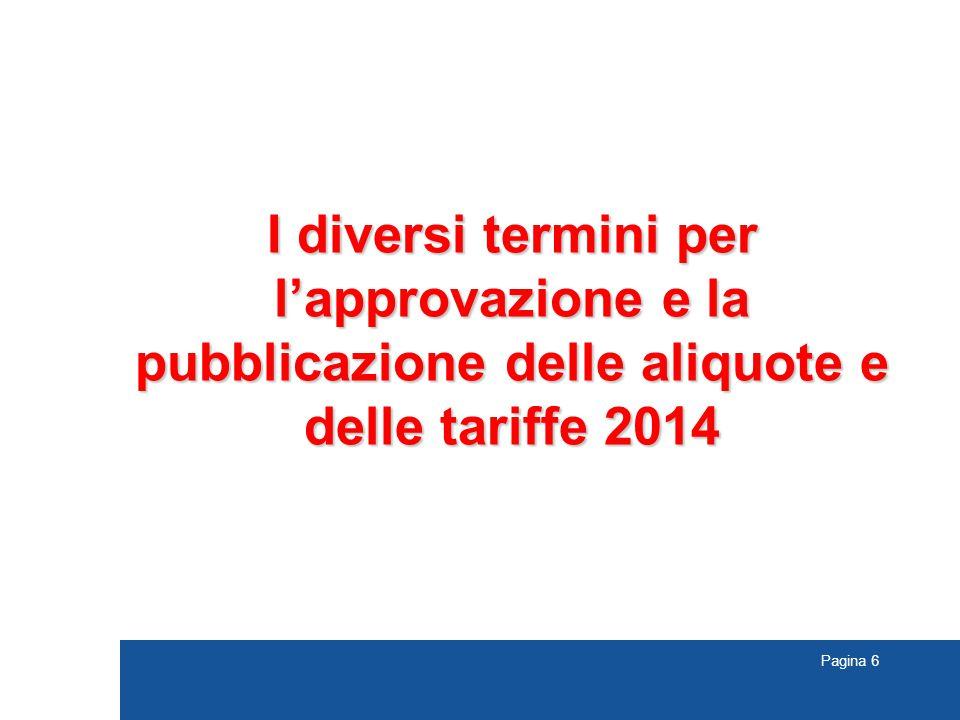 I diversi termini per l'approvazione e la pubblicazione delle aliquote e delle tariffe 2014