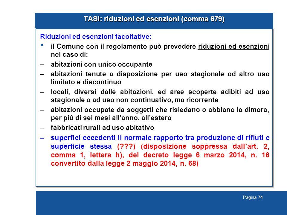TASI: riduzioni ed esenzioni (comma 679)