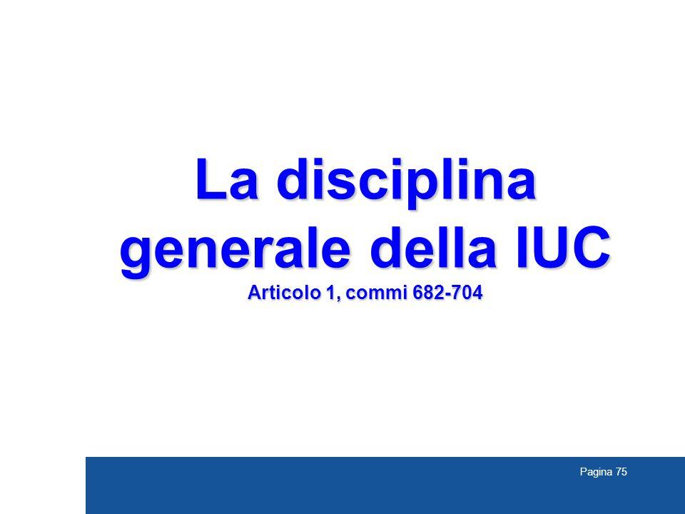 La disciplina generale della IUC